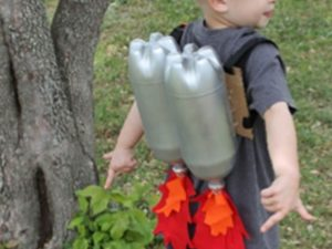 Two plastic fizzy drink bottles made into an ultra cool jet pack!