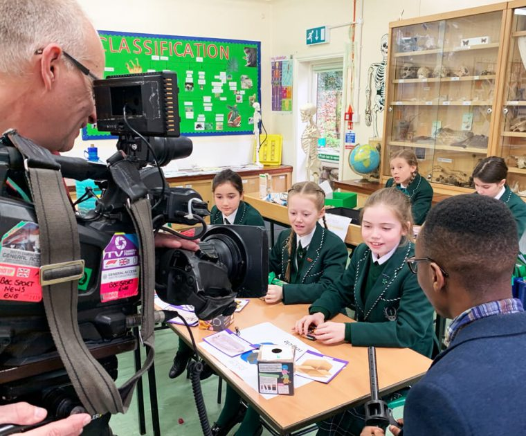 BBC News Interview at Spratton Hall for Waste Wise Kids