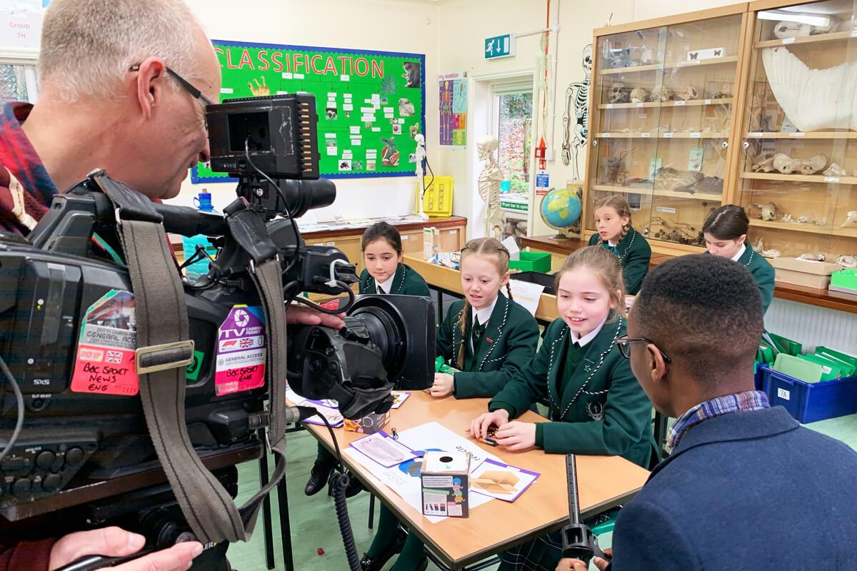 BBC News Interview at Spratton Hall for Waste Wise Kids