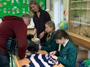 BBC News Crew filming pupils at Spratton Hall for Waste Wise Kids