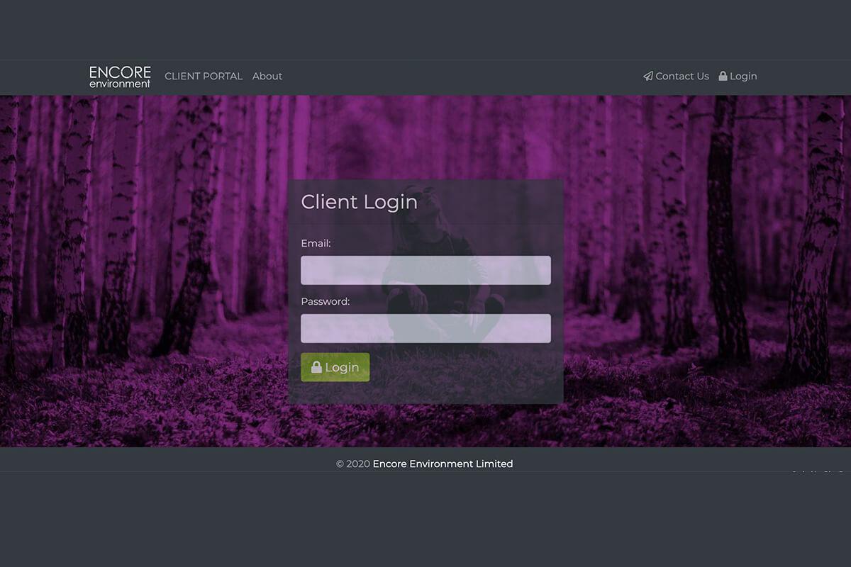 Encore Environment Client Portal